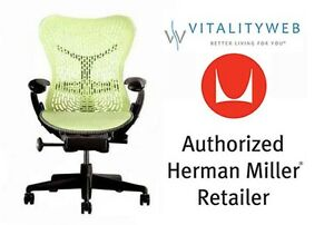 Herman Miller Mirra Adjustable Chair Graphite Citron