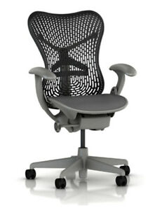 New Herman Miller Adjustable Mirra Home Office Desk Chair Frame Graphite Back