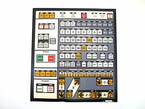 Cnc Machine Keypad Replacement Membrane overlay 11 44 00 Nos