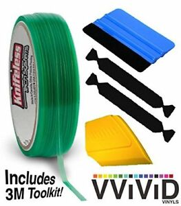Knifeless Vinyl Wrap Cutting Tape Finishing Line 50m Plus 3m Toolkit blue