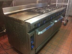 Restaurant Commercial Cooking Range With Griddle