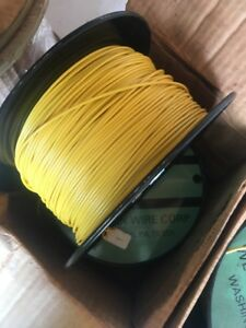 22 Awg Gauge Stranded Hook Up Wire Yellow Black 1000 Ft 0 0253 500 300 Volts
