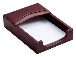 A3009 mocha leather memo paper holder