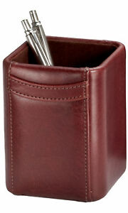 A3010 mocha leather pencil cup