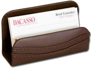 A3407 chocolate brown leather business card holder
