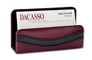 A7007 two tone leather business card holder