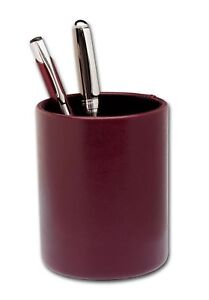 A7010 two tone leather round pencil cup