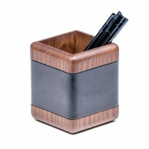 A8410 Walnut Leather Pencil Cup