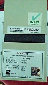 Sola 23 13 030 2 Constant Voltage Transformer Harmonic Neutralized Type Cvs
