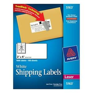 Dmsp 5163 avery White Shipping Labels With Trueblock Technology For Laser Print