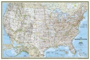 United States Classic Poster Size Tubed Wall Maps U S 9781597752176 Pl 3802