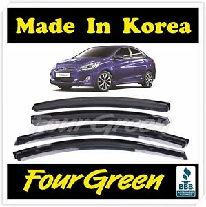 New Smoked Door Visor Window Sun Vent Deflector Hyundai Accent Sedan 2012 2017
