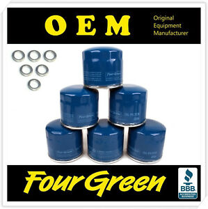 Fits Hyundai Kia Oil Filter Fourgreen Branded Oem 2630035503 With Washer Qty6