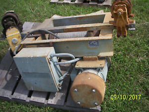 Overhead Trolley Winches 3 As Is