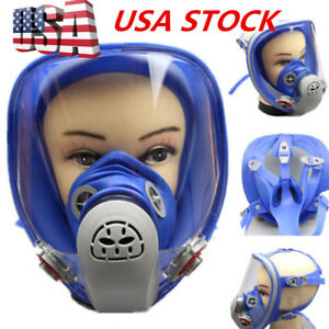 For 3m 6800 Silicone Gas Mask Full Face Facepiece Respirator Paint Spraying Usa