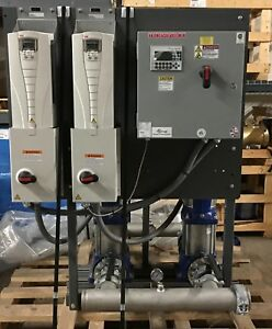 Xylem Vertical Multistage Duplex Water Booster 350 Gpm 113 Psi Grundfos Cr32