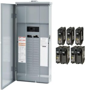 Outdoor Circuit Breaker Box 200 Amp 30 space 60 circuit Main Breaker Plug on Ld