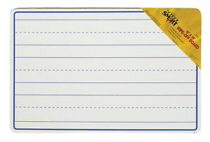 School Smart Wipe off Ruled Whiteboard 12 L X 18 W In White Pack Of 10