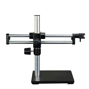 Ball bearing Dual arm Boom Stand For Stereo Microscopes 15 Inch High Pillar