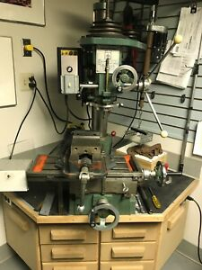 Jet 16 Drilling Milling Machine 12 Speed With Stand And Some Bits Works Great