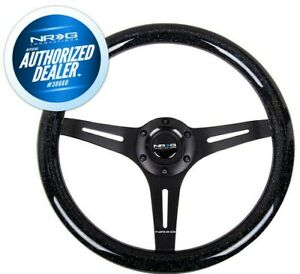 New Nrg Steering Wheel Wood Grain Galaxy 350mm Black Spoke 2 Deep St 015bk Bsb