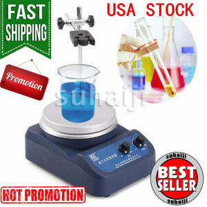 200w Magnetic Stirrer Mixer W Heating Plate Hotplate Digital Display Usa