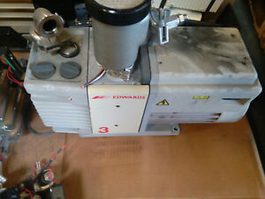 Edwards Rv3 Two Stage Rotary Vane Vacuum Pump Dual 110v Or 220v