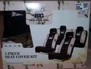 Rg Realtree Girl 3 Piece Seat Cover Set New In Box With 4 Headrest Covers