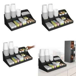 Cup And Lid Holder Organizer Coffee Stand Station Office Home Rack Tea Dispe