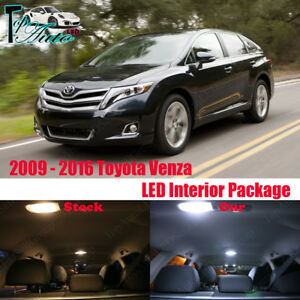 12x Xenon White Led Lights Interior Package For 2009 2015 2016 Toyota Venza