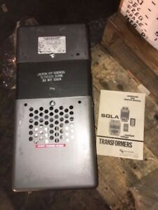 Sola 23 25 175 Constant Voltage Transformer Type Cvs New Surplus No Box