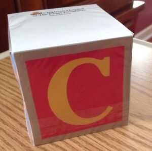 New Chkd Blocks Note Cube Memo Pad Sticky Rare Discontinued Gift Neat