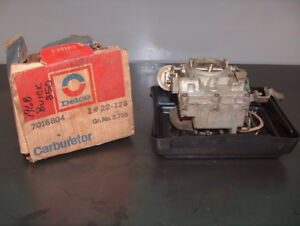 1968 1969 Buick Skylark 350 V8 Gm Nos Rochester 2 Barrel Carburetor In Box