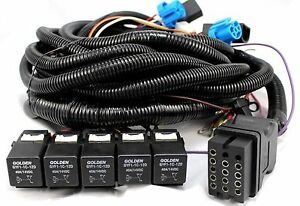Boss Snow Plow 13 Pin Harness 5 Relay Fits V Straight Blade Plows Msc04316