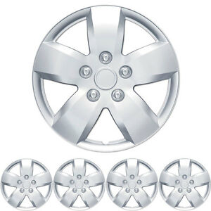 Hubcap Covers For Nissan Altima 16 Inch Silver Replica Abs Hub Caps 4 Pc Set