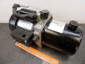 John Barnes Fluid Pack Hydraulic Pump Power Pack Hydraulic Tank 120 Vac 1 phase