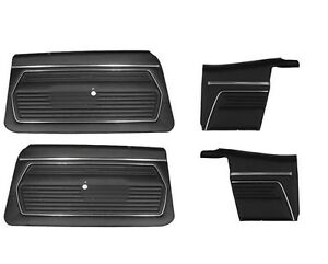 1969 Chevy Camaro Convertible Front And Rear Door Panel Set Black Z 28 rs ss