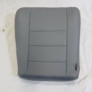 03 07 Ford Excursion Diesel Pickup Xl Driver Bottom Vinyl Seat Cover Gray