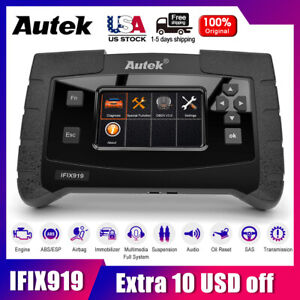 Autek Ifix919 Full Systems Scanner Engine Abs Airbags Srs Esp Obdii Code Reader
