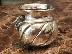 Sterling Silver Peruvian Sugar Creamer Bowl 104 7 Grams
