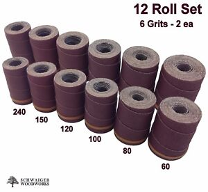 Drum Sander Sanding Wraps rolls Jet performax 16 32 Ryobi Wbs1600 12 Pc Set