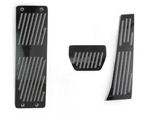3pcs Black Carbon Fiber Auto Dead Pedals For 1997 2003 Bmw E39 e38 5 7 Series