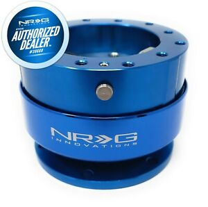New Nrg Steering Wheel Quick Release Blue Body And Ring Hardware Srk 200bl