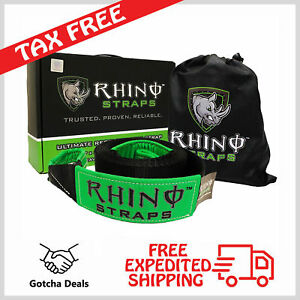 Recovery Tow Strap Rhino Usa Heavy Duty Off Road Reinforced Rope 3 X 20 Ft