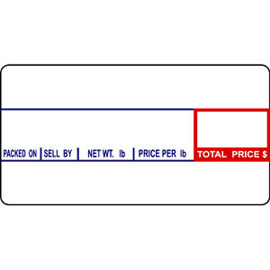 Cas Lst 8000 Printing Scale Label 12 Rolls Of 1000labels