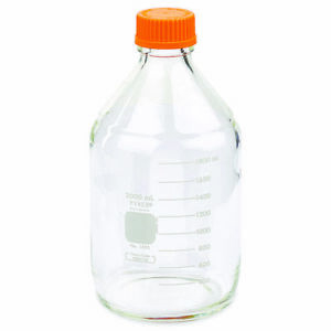 Pyrex 2l Round Media Storage Bottles With Gl45 Screw Cap case Of 10