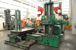 1952 3 Giddings Lewis 300t Boring Mill Rapid Traverse 2 axis Sony Dro