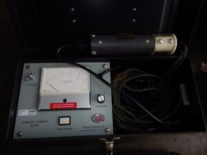 James G Biddle Leakage Current Meter 681106 Used Working