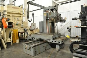 1969 4 Giddings Lewis 70a dp4 t Fraser Boring Mill Hard Bed Table Ways