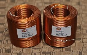 Pair Of Jantzen 4 0mh 15 Awg Air Core Inductor For Crossover